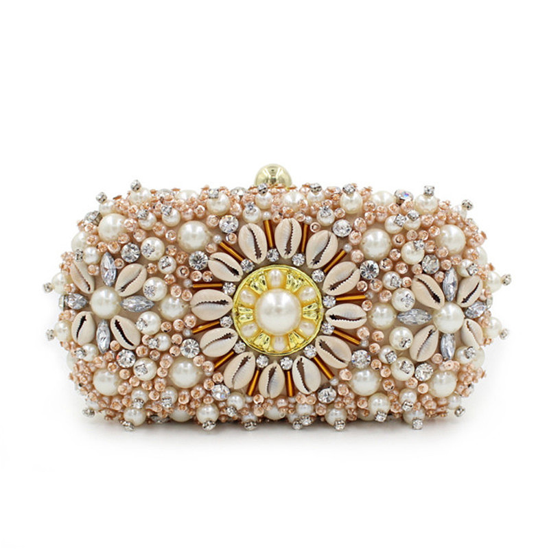 ФОТО 2017 Luxury Fashion Women Clutch Purses Beading Diamond Evening Bags New Designer Chain Rhinestone Woman Party Ladies Bags