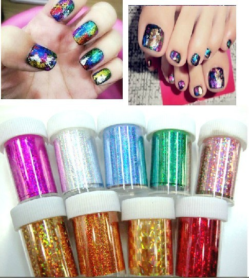 101Colors 60rolls/lot New Nail Art Transfer Foils Set Free Adhesive Acrylic Gel System Tips Decoration