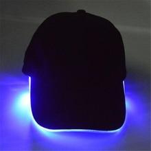 Unisex New Design LED Lighted Baseball Caps Kpop Snapback Dad Hat Black Hip-hop Club Cap Multifunction Baseball Hat For Night