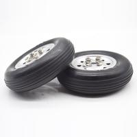 1 pair RC Airplane Parts 3''/3.5''/4''/4.5'' ESM Rubber Wheel Tire