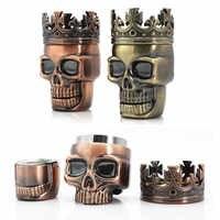 Broyeur à tabac accessoires Tabacco broyeur à épices en métal broyeur à herbes broyeur à fumée Muller King crâne forme 3 couches concasseurs 1 PC