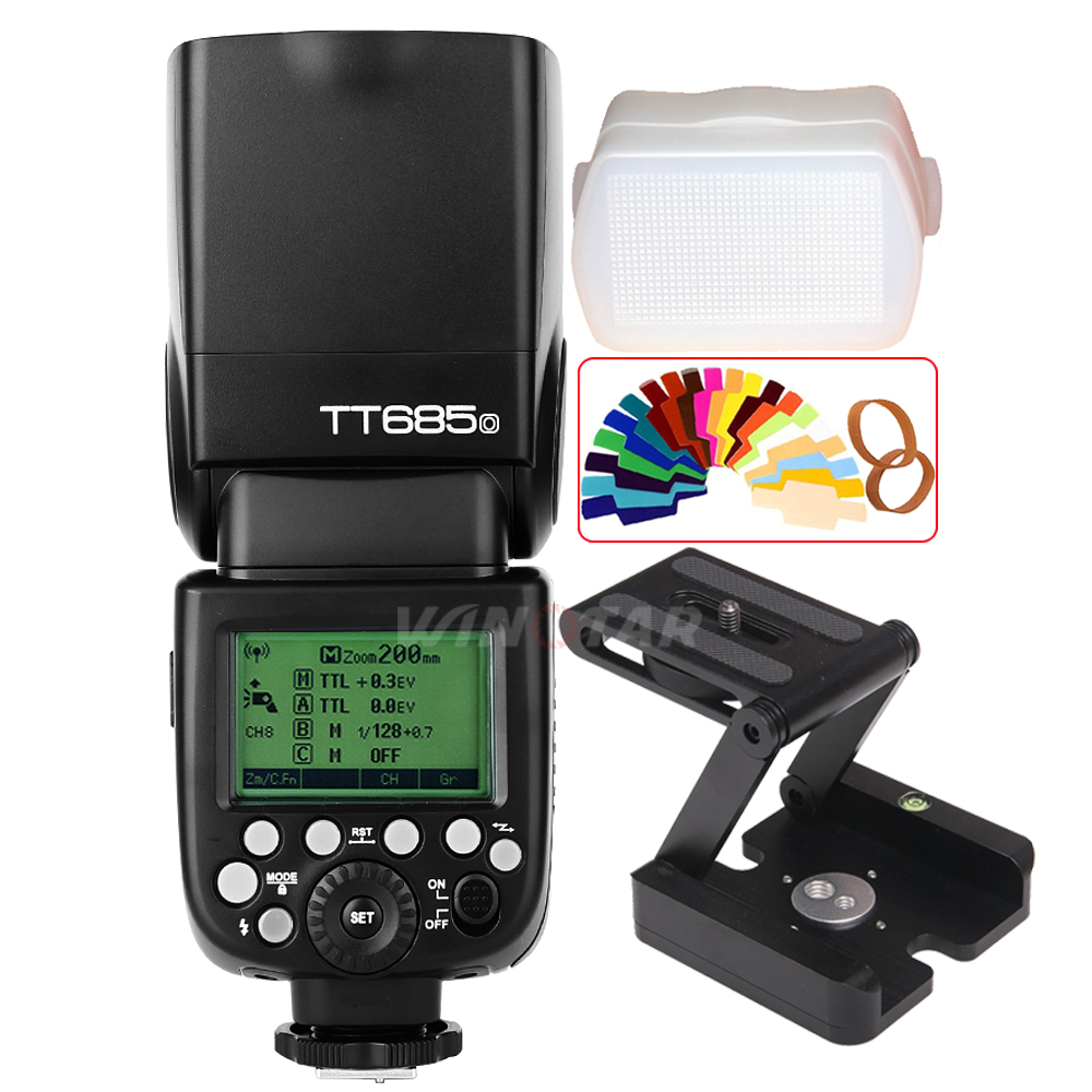 Godox TT685O 2 4G Wireless HSS TTL Flash Speedlite Z Tripod Bracket Head for Panasonic Lumix