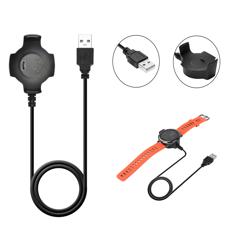 1M <font><b>Magnet</b></font> <font><b>Charger</b></font> Cable Data Cable For Xiaomi 5V USB Charging Cable for Huami Amazfit Smart Watch USB Cable Black 1pcs