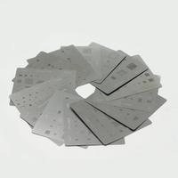 29pcs Universal Direct Heat BGA Stencils Bga Templates Reballing Jig For Chip Rework Soldering Kit