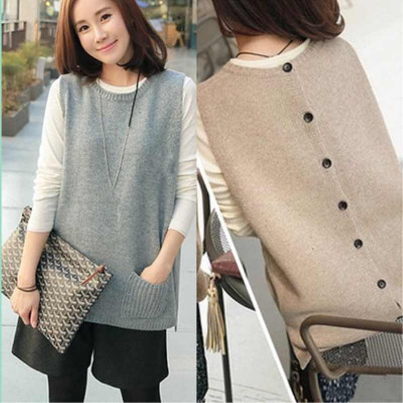 0e13ce4f8 BELIARST Spring and Autumn New Cashmere Knit Vest Woman Vest Camisole Long  Sleeveless Sweater Loose Thick coat