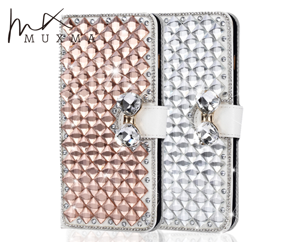 Glitter Diamond Case For Xiaomi Mi Max 2 Max2 Rhinestone Leather Cover Flip Wallet Crystal Strass Holder Stand Mobile Phone Bags