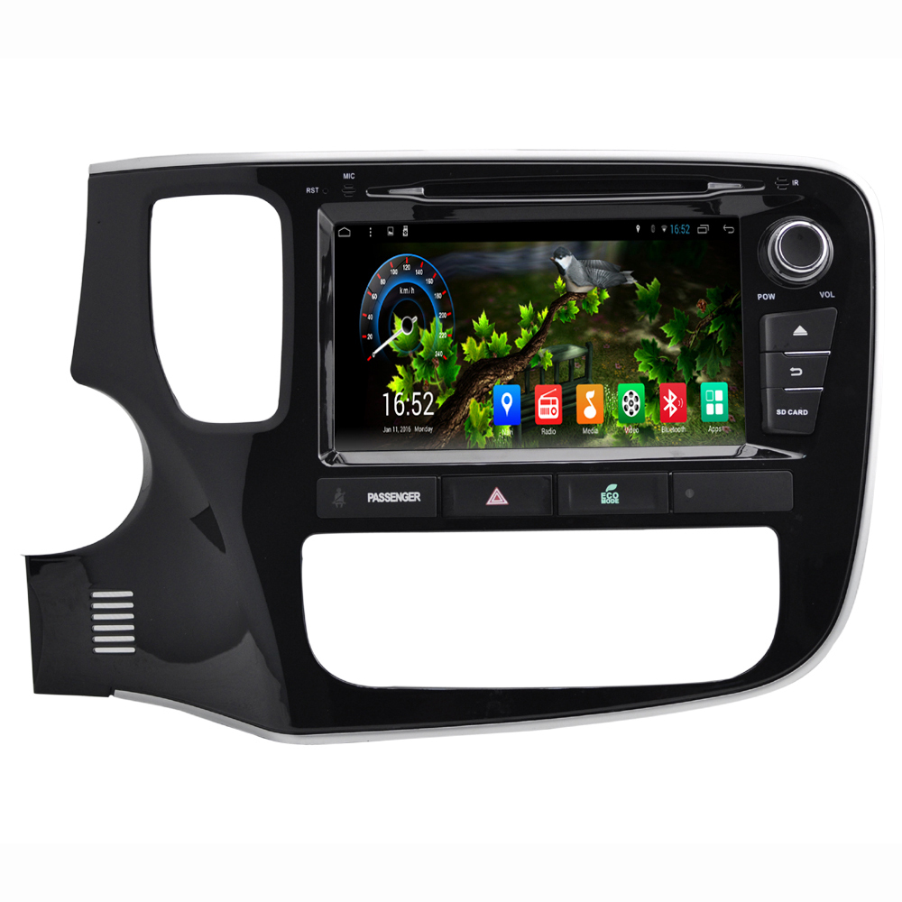 8 inch screen android 4 4 car navigation gps system stereo media auto radio dvd player entertainment for mitsubishi outlander