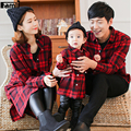Famli 1pc Mother Daughter Plaid Shirts 2017 Family Dad Mom Baby Casual Plaid Long Sleeve Cotton Blouse Father Son T-shirt Outfit