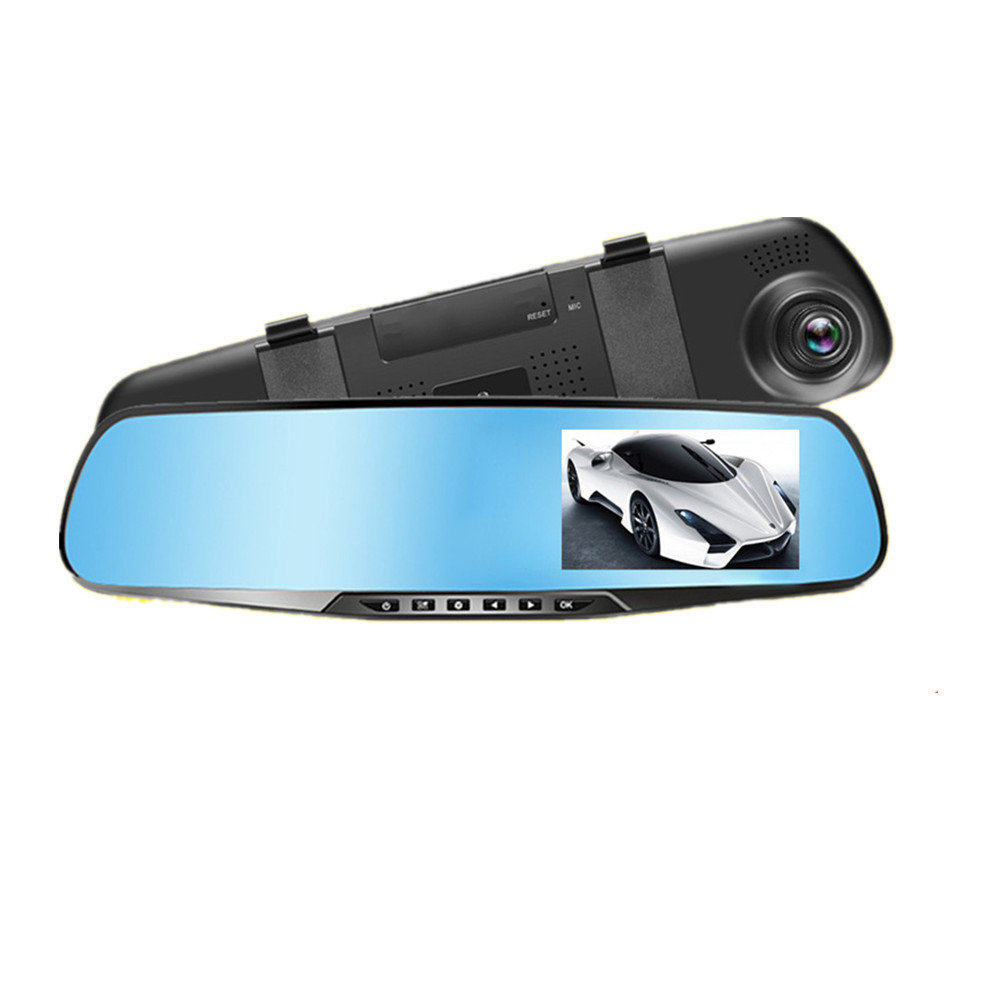 Chunmu <font><b>Car</b></font> <font><b>Dvr</b></font> Camera Rearview <font><b>Mirror</b></font> Digital Video Recorder Auto Camcorder Dash Cam FHD 1080P Dashcam Registrator image