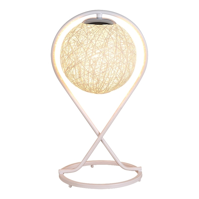 desk lamp bedroom bedside night light table features creative fashion modern decorative lamp cane twine novelty luminaria