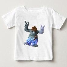 лучшая цена Children  Zombies Print Funny Girls/Boys T-Shirts Kids Summer Tops Short Sleeve Clothes Game Baby T Shirt  teasing Corpse MJ