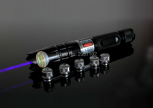 NEW high power military 100W 100000MW blue laser pointer 450nm burning match candle lit cigarette wicked lazer torch+5 caps 007
