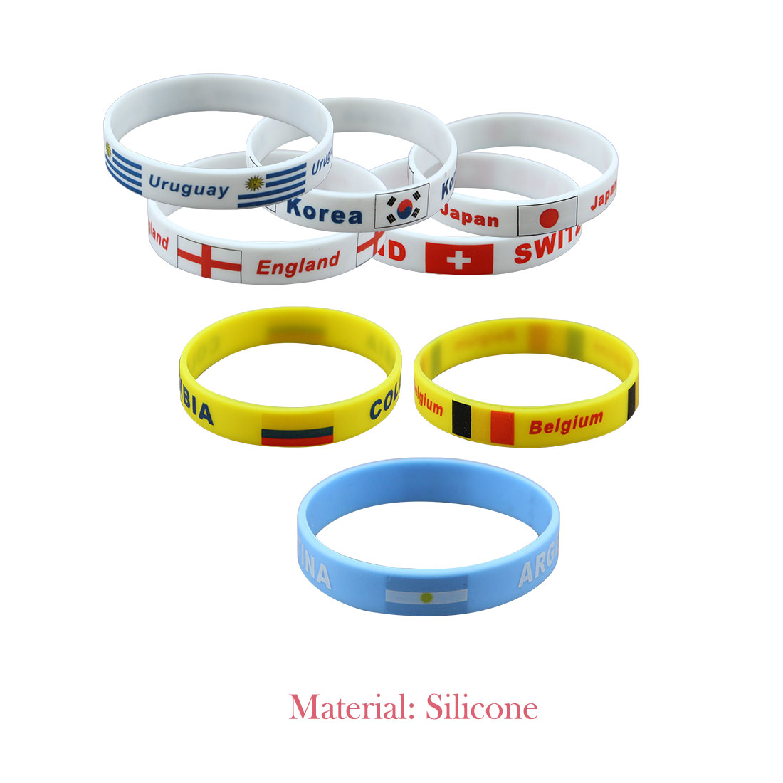 Brand New 1pcs Football Fans Bracelet Soccer fan Accessories Football Silicone Bracelet Cheerleading supplies