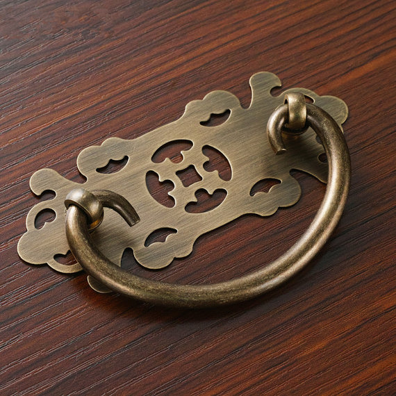 2.5'' 3.75'' 5'' Antique Bronze Crack Door Pulls Handles Oval Gem Ceramic Knobs Kitchen Cabinet Drawer Knobs Furniture Handle