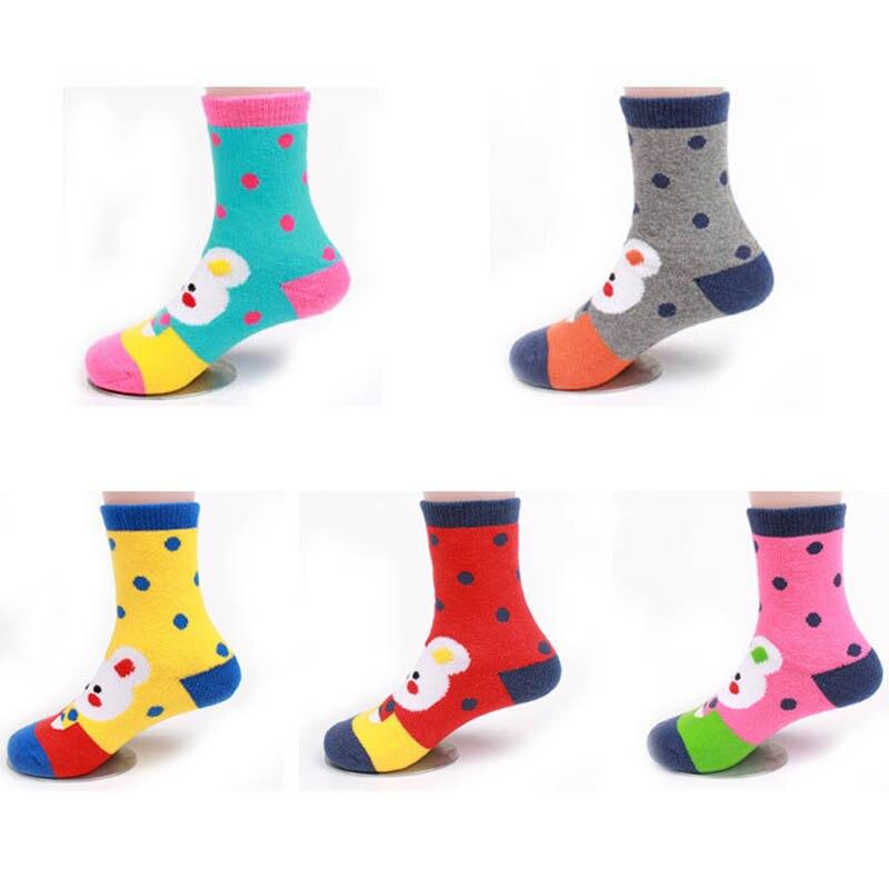 Baby Girls Winter Socks Toddler Thick Socks 5 Pack