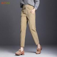 601033172c3 Women Corduroy Pants 2018 Autumn Winter Vintage Solid Casual Office Laldy  High Waist Harem Pants Women Corduroy Trousers Female
