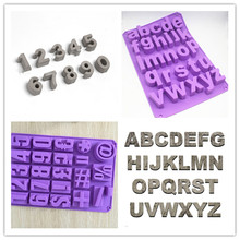 3D Digital Cement silicone Mold Birthday Number Cake