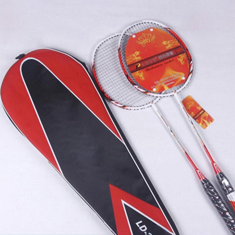 JUNRUI прочный Скорость ракетки для бадминтона полный углерода ракетки для бадминтона best Raquette бадминтон LD3018