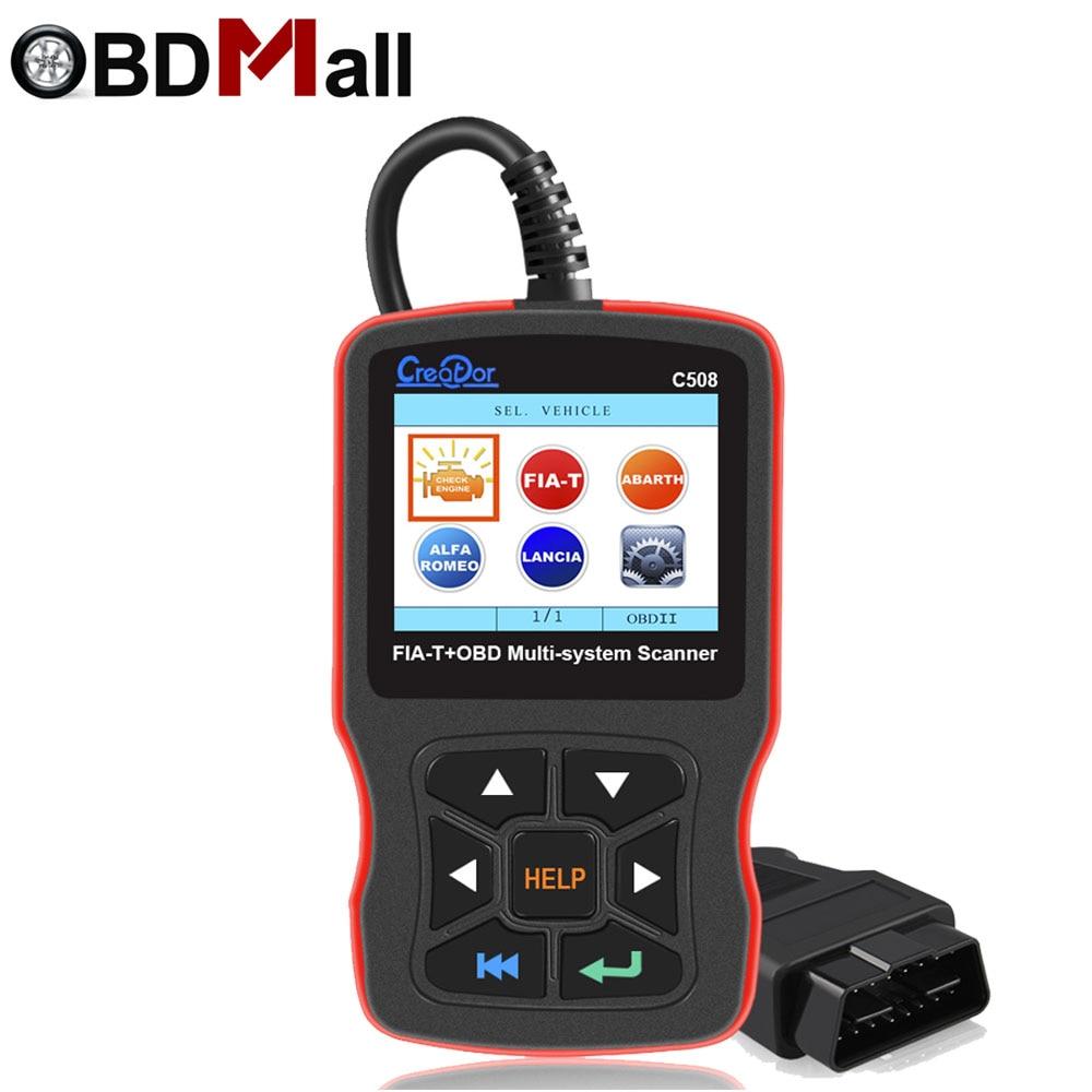 Criador Original C508 OBDII/EOBD Scanner para FIAT/Alfa/Abrath/Lancia Airbag/ABS Carro De Diagnóstico OBD2 ferramenta de scanner de diagnóstico de automóveis