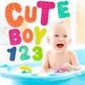 36 pcs Bebê Crianças Brinquedos para o Banho de Letras Números Educacional Conjunto de Brinquedos de Água AO # P