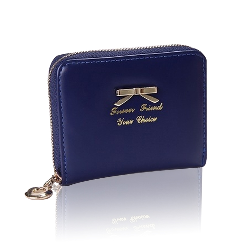 Bright Leather Women Coin Purse Mini Short Card Lady Clutch Wallet Handbag Simple Bow Purse Zipper Small Purse Female Card Holde 2016 brand designer women wallet bags pu leather clutch purse lady short handbag bag for pattern coin woman purse
