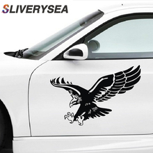 цена на SLIVERYSEA Door Sticker Eagle Body Personality Creative Hood cover Car Stickers Car Cover Scratches Decorative Pull Flowers