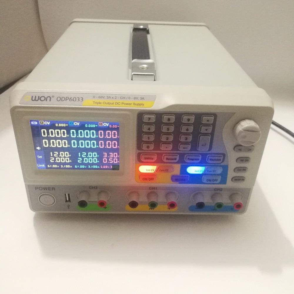 OWON ODP6033 Triple sortie avec alimentation cc Programmable 2-60 V/3A et 0-6 V/3A