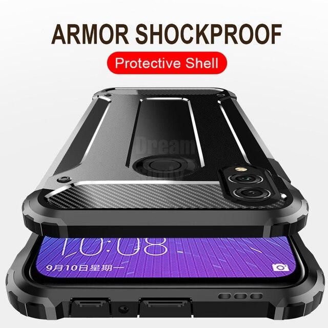 De lujo de la armadura a prueba de golpes caso en el para Huawei P20 Pro amigo 20 Lite de la PC + TPU para Huawei Honor funda protectora 10 9 Lite