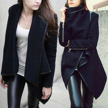 High quality Europe fashion  Stylish Womens Slim WOOL Warm Long Coat Jacket  Windbreaker Outwear winter parka coats