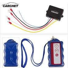 Carchet 12 v winch kit de control remoto inalámbrico para camión jeep atv warn ramsey winch impermeable de control remoto inalámbrico