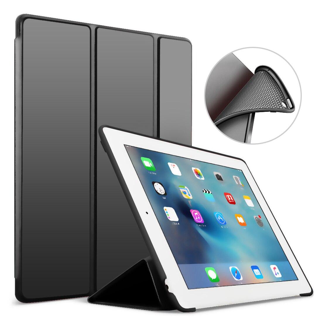 Für iPad 9,7 2017 2018 Fall A1822 A1893 Silikon Weiche Zurück PU Leder Smart Abdeckung Funda für iPad 2018 Fall 9,7 zoll 2017