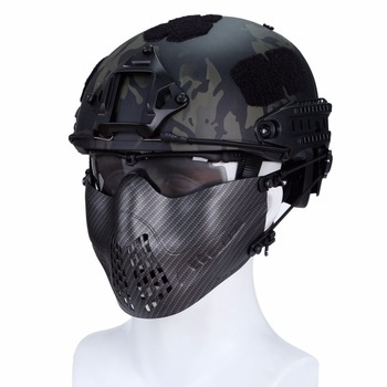 WoSporT Tactical Mesh Face Mask Face Shields Airsoft Masks Hunting CS Military Pilot Party Movie Camo Ghost Combat Mask face mask