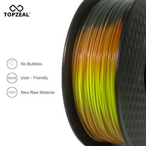 Image 2 - TOPZEAL Newly PLA Tri Temp Change Color Lava 3D Printer Filament, Black to Red to Yellow, 1KG 1.75mm with Tolerance +/ 0.05mm