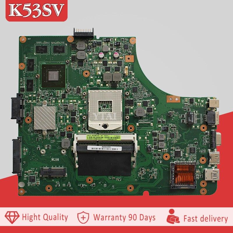 YTAI K53SV GT540M 2G HM65 REV:3.0 Motherboard for Asus K53SV A53S K53S K53SC K53SM Laptop Motherboard GT540M 2G HM65 DDR3 REV3.0 ytai original for asus ux32a ux32v ux32vd rev 2 4 i5 3317u laptop notebook motherboard hm76 60 ny0mb1200 a02 ddr3 2g