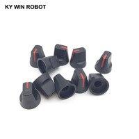 potentiometer knob 10PCS 6mm Potentiometer Plastic Knob Red (4)