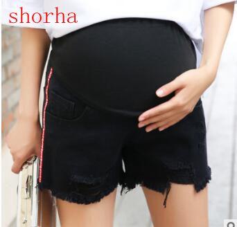 Black cowboy pregnant women pants Tassel Maternity Jeans Fashion Pants Clothes for Pregnant Women Pregnnacy Pencil Trousers