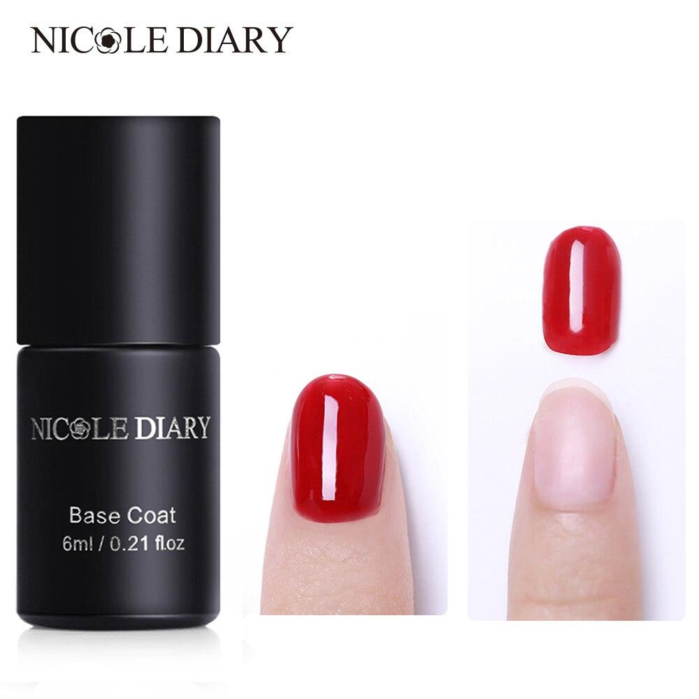 Best Nail Base Coat For Peeling Nails: NICOLE DIARY 6ml Nail Gel Peel Off Base Coat No Need Gel