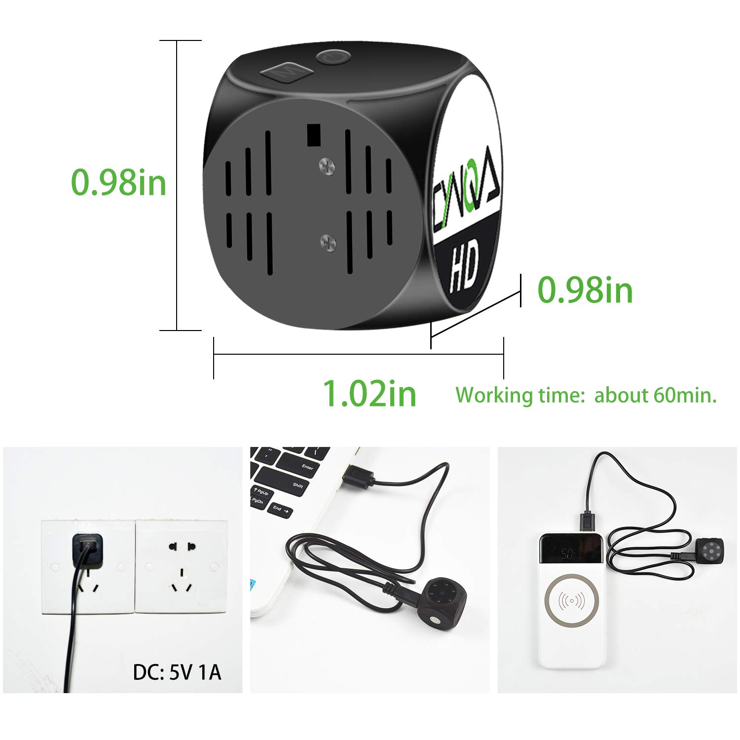 1080P HD Mini Camera Portable Home Security Cameras Covert Nanny Cam Video Recorder Camcorder with Night Vision Motion Detection in Surveillance Cameras from Security Protection