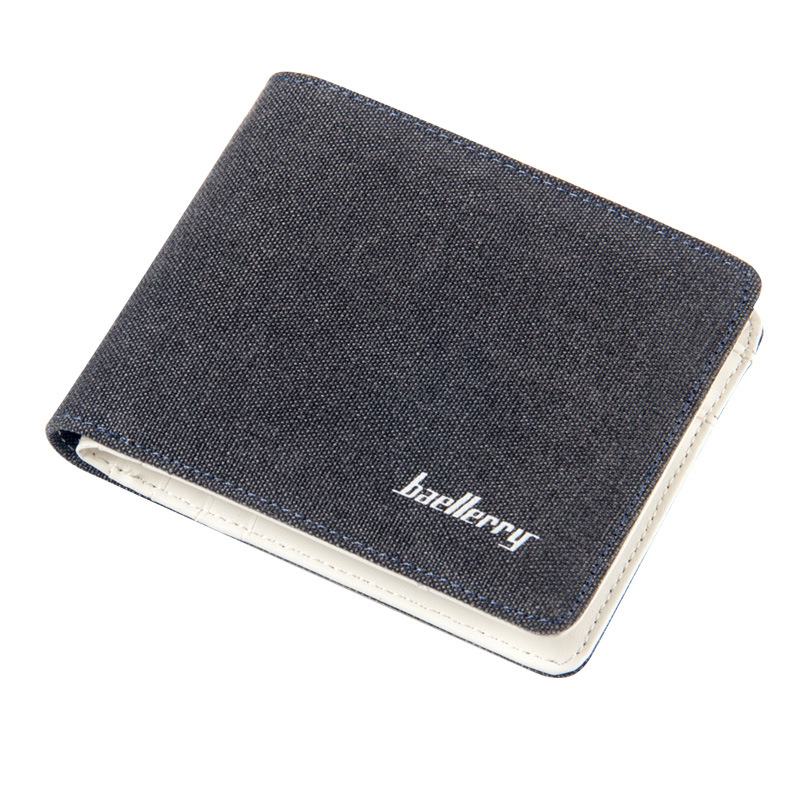 Wallet Men Vintage Jeans Canvas Purse Slim Small Card Holder Coin Purses Male Clutch Fashion Thin Wallet Clamp For Money Purse