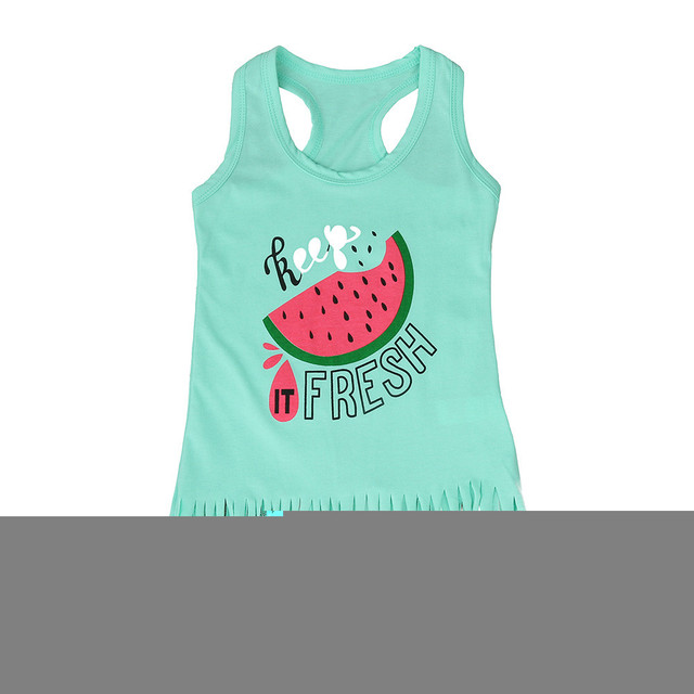 Chamsgend Fashion Toddler Baby Girls Boys Watermelon Dress Clothes