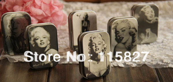 Free Shipping 12pcslot Classic Collection Marilyn Monroe Mini Tin