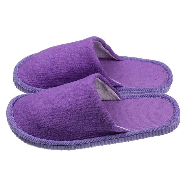 Bedroom Men Women Anti Slip Shoes Soft Warm Cotton House Indoor Home Floor