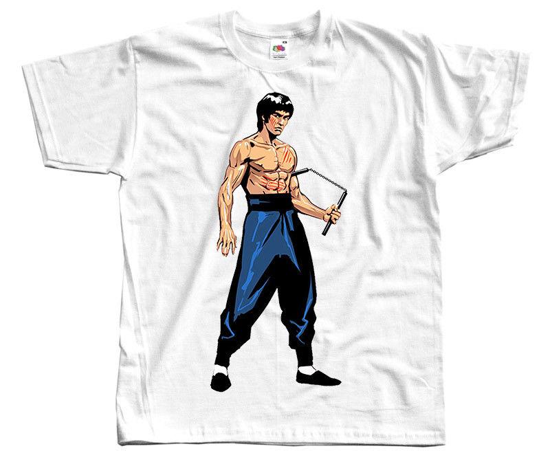 Bruce Lee V7 T Shirt White Black Natural Sky Blue All Sizes S To 4Xl