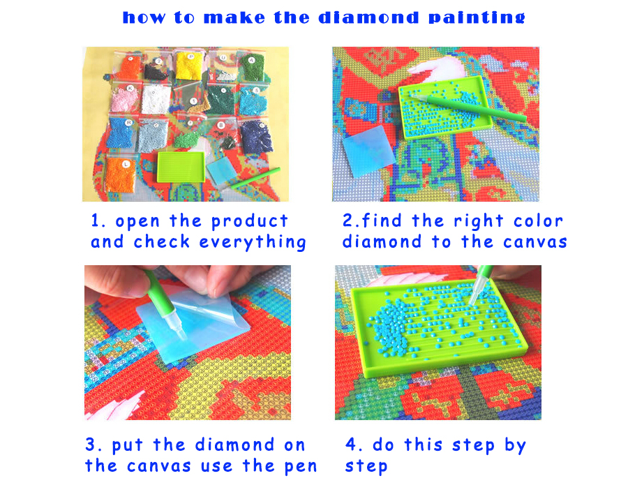 Ponto cruz com pintura de diamante