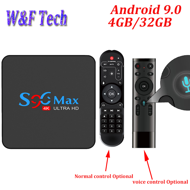 S96 MAX Android 9,0 TV BOX 4GB RAM 32GB reproductor multimedia inteligente RK3318 Quad Core 4k HDR set Top caja USB 3,0 BT 5G WIFI PK X96