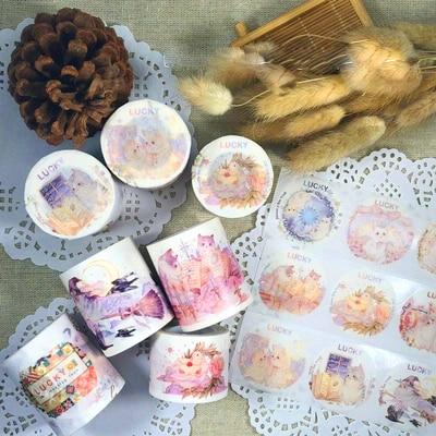 Special Ink Angel Cat/demon Cat/Flying Pigeon Love Letter Decoration Washi Tape DIY Planner Scrapbooking Masking Tape Escolar