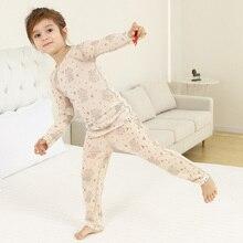 Merino wool kids' base layer thermal underwear set sports long johns