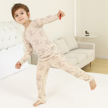 Merino wool kids' base layer thermal underwear set sports long johns baby girl clothes boys top and pants kinsei