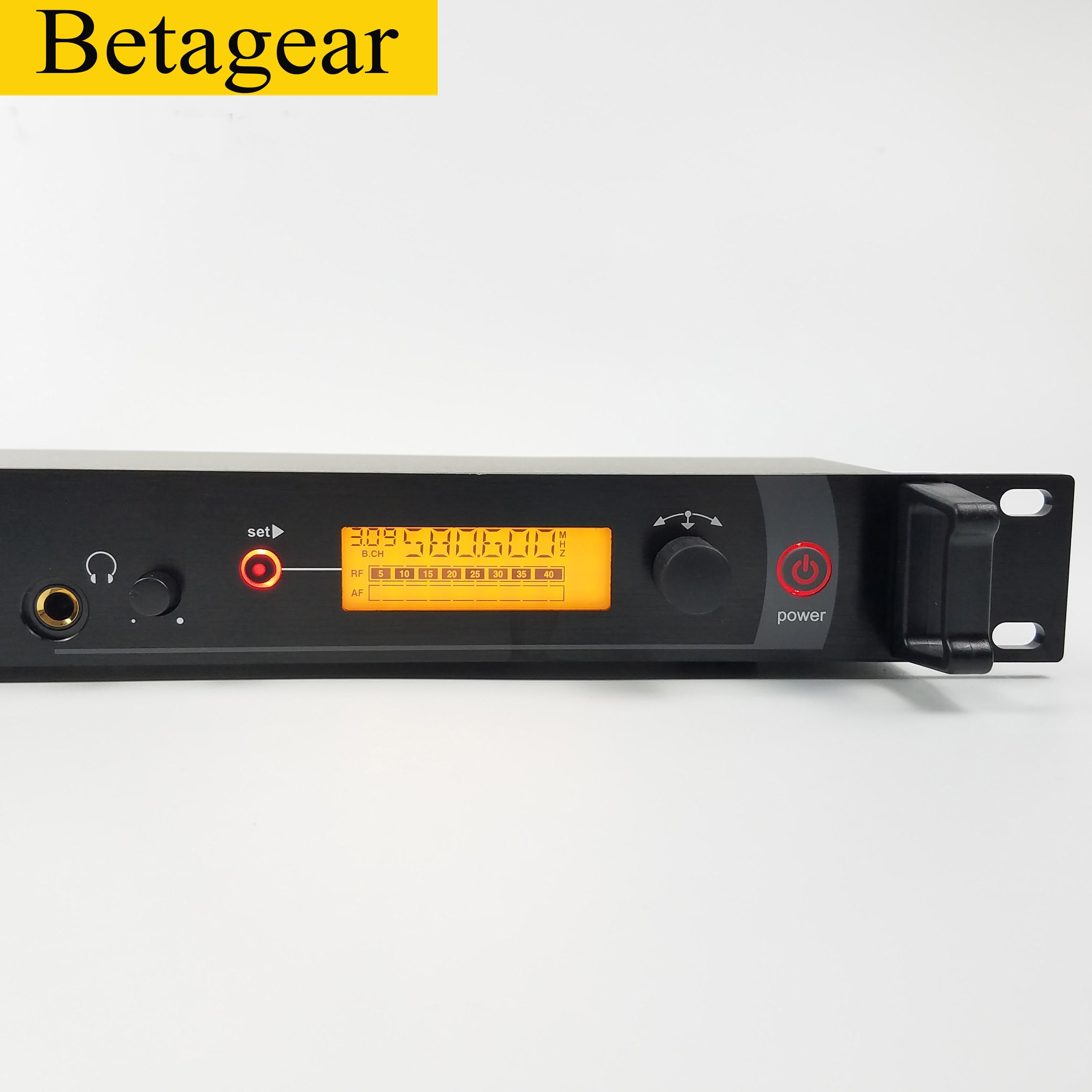 Betagear bk2000 mono in ohr-monitor drahtlose system professional sound bühne uhf IEM 1 sender 2 empfänger leistung bühne