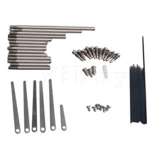 Yibuy Clarinet Repair Kit Reed Top Screw Key Shaft Top Screw Reed Pin Wind Musical Instrument Accessory